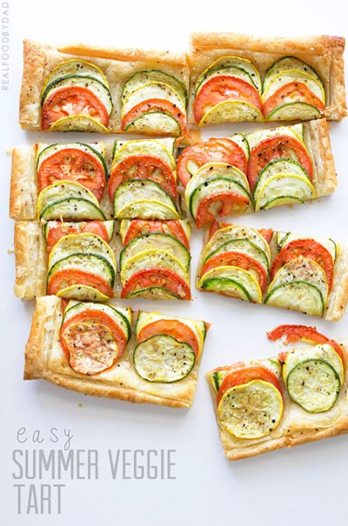 Easy Summer Veggie Tart with Real Food by Dad