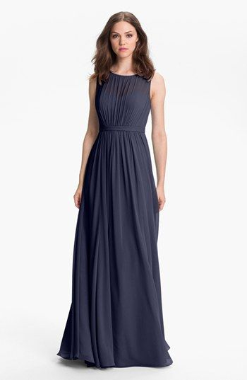 Jenny Yoo Vivienne Pleated Chiffon Gown available at #Nordstrom