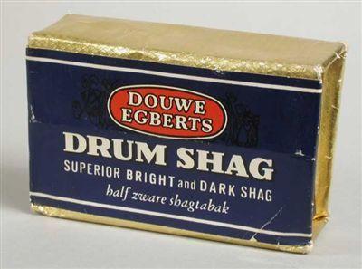 """Pak shag """"DRUM"""" met rood-blauwe wikkel en goudkleurig folie"""