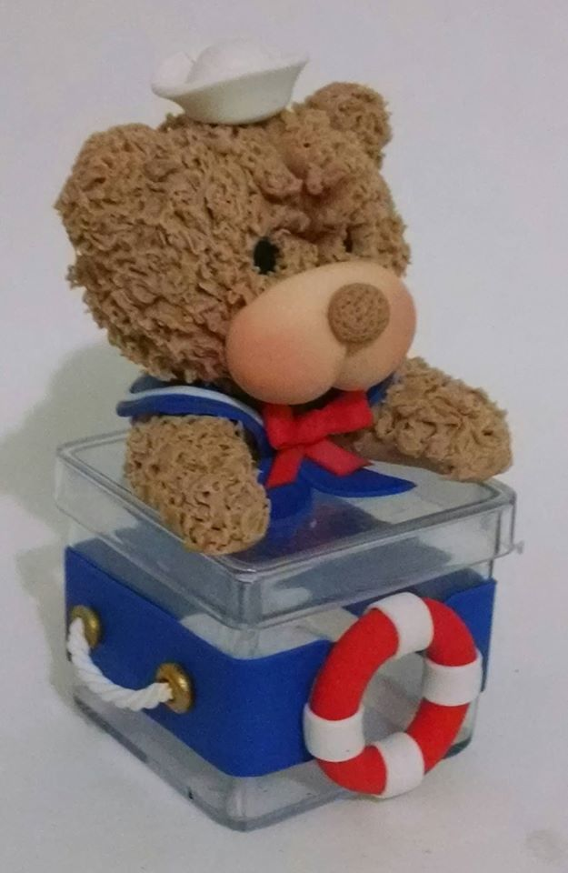Caixinha de Acrílico Urso Marinheiro