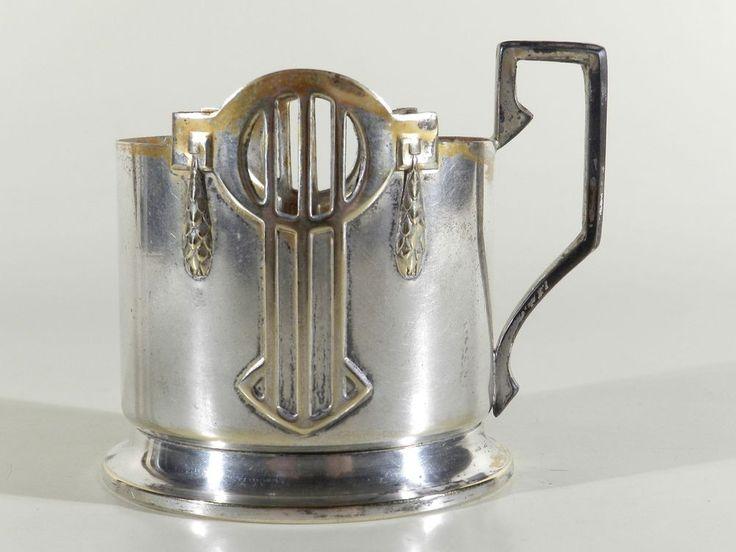 Jugendstil Art Nouveau Glashalter ° Teeglashalter