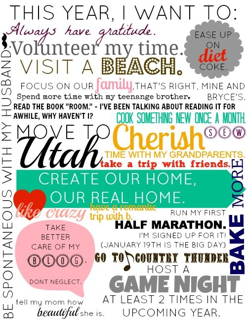 another great Vision Board via sincerelyarizona.blogspot.com    This is such a neat idea! I want to do a vision board!