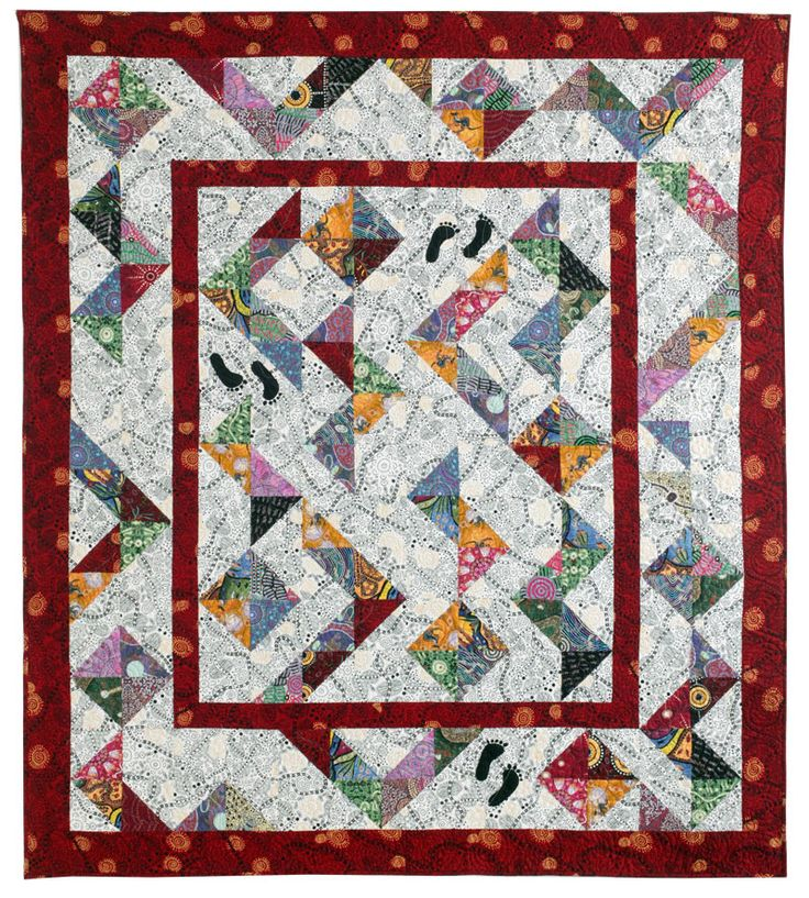 Easy Quilt Pattern Kurrajong Walkabout Featuring Aboriginal Fabrics From M Textiles In Australia Designed And Made By Patricia Meek Quilters Newsletter