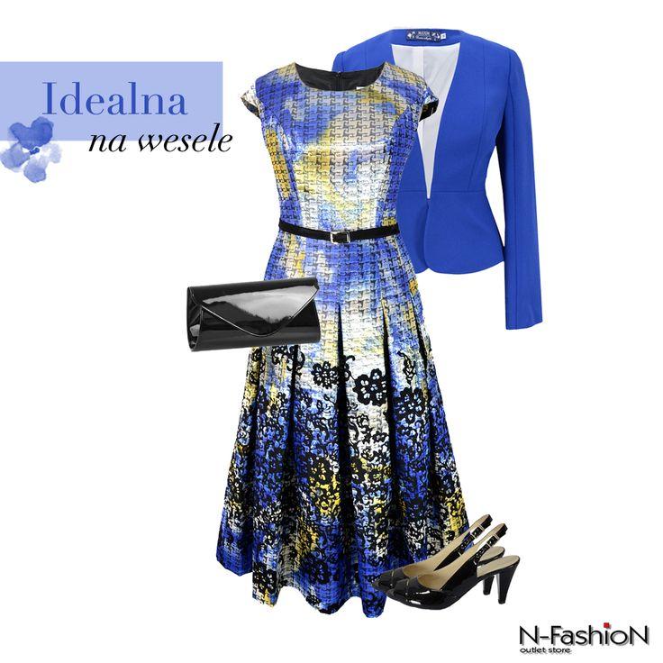 Rozkloszowana sukienka w pięknym kolorze. Czyż nie jest idealna na wesele?   1. Maxim sukienka 299 pln: http://bit.ly/sukienkaMaxim 2. Lizard czółenka 129 pln: http://bit.ly/czółenkaLizard 3. Torebka kopertówka 69 pln: http://bit.ly/kopertówkalakierowana 4. Żakiety: http://bit.ly/żakiety