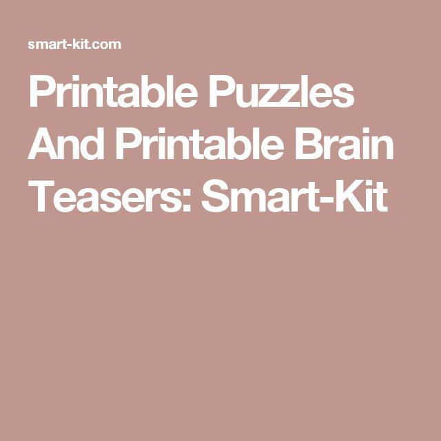 Printable Puzzles And Printable Brain Teasers: Smart-Kit