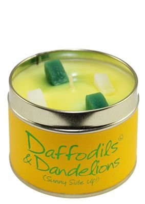 Lily Flame Daffodils & Dandelions Tin Candle