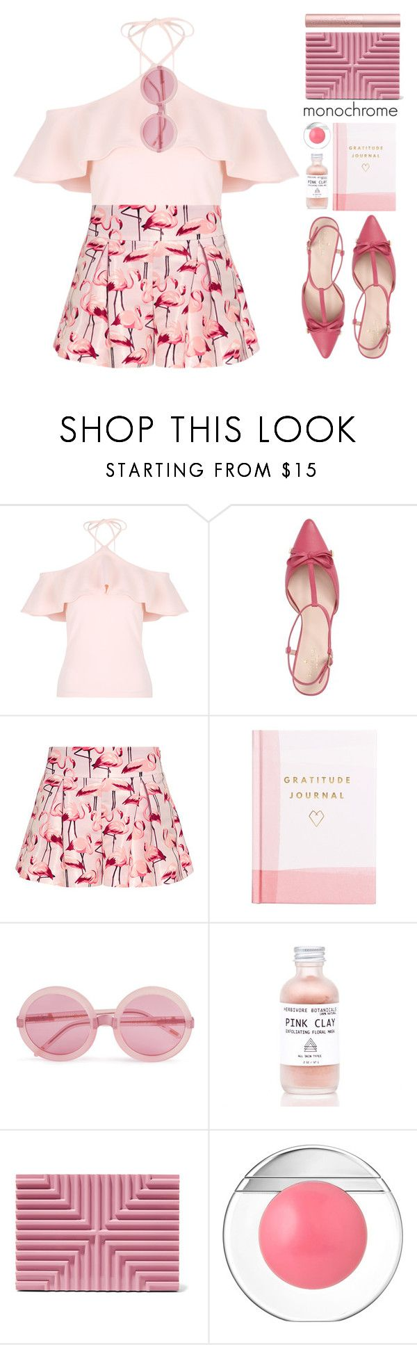 """""""monochrome"""" by blueberrylexie ❤ liked on Polyvore featuring Kate Spade, RED Valentino, Thrive, Wildfox, Lee Savage, Estée Lauder and Too Faced Cosmetics"""