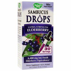 Nature's Way Sambucus Drops Ultra-Strength Elderberry Liquid 1 Fluid Ounce