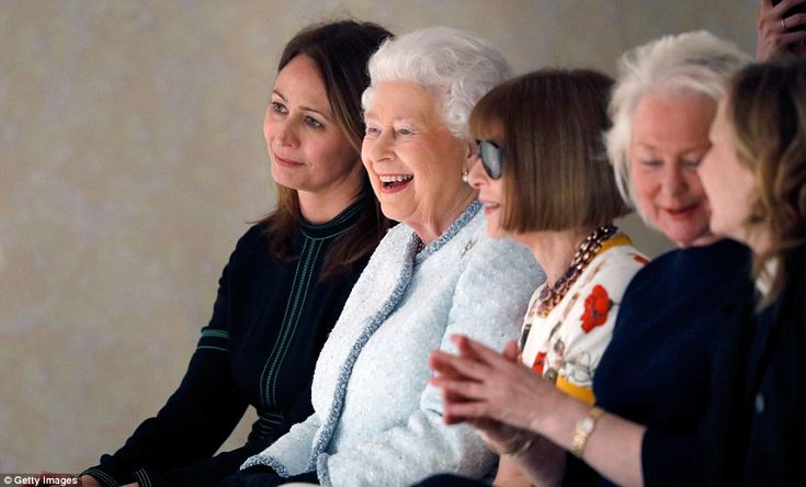 The Queen shared a laugh with the famously steely magazine editor as she watched models parade down the runway wearing designs by Quinn, who today became the first ever recipient of the inaugural Queen Elizabeth II Award for British Design