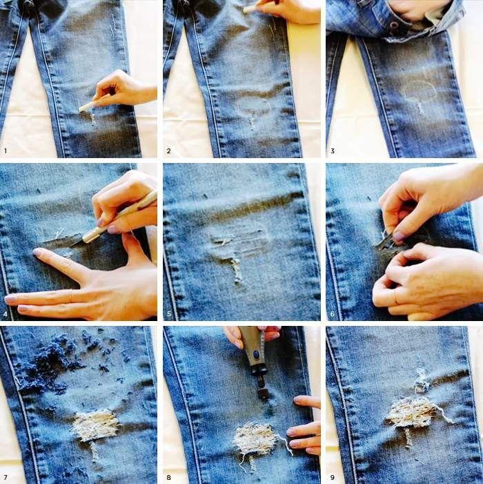 рваные джинсы своими руками мастер класс фото катиных