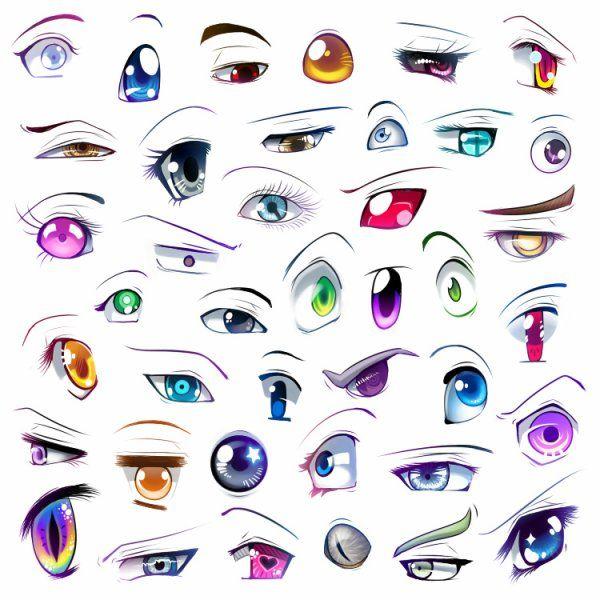 Les 25 meilleures id es de la cat gorie yeux manga sur pinterest regard animal dessin manga - Dessin yeux facile ...