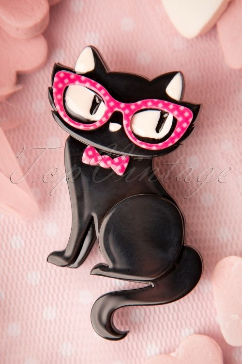 Erstwilder - 60s Elissa the Indie Cat Brooch
