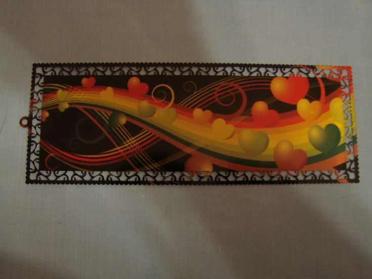 Design your own funky metal bookmark for your school books