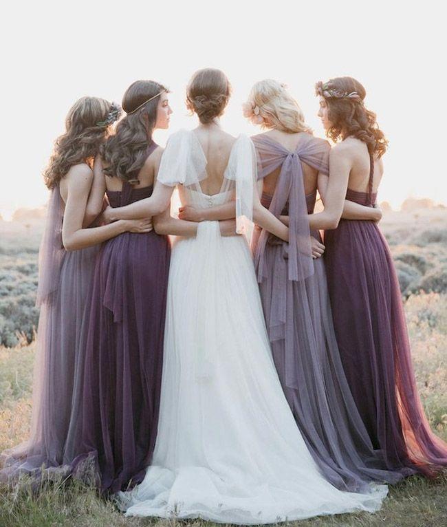 テーマカラーはシックな紫。結婚式のブライズメイドのイメージ一覧です。ウェディング・ブライダルの参考にどうぞ!