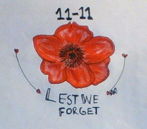 We shall Remember them #RememberanceDay #november11 #inhonourofthoswwhoserve #drawing #art #poppy #flower #WW1 #symbol #thankyou #army #vetrans #navy #airforce #troops #diggers #australian #heroes
