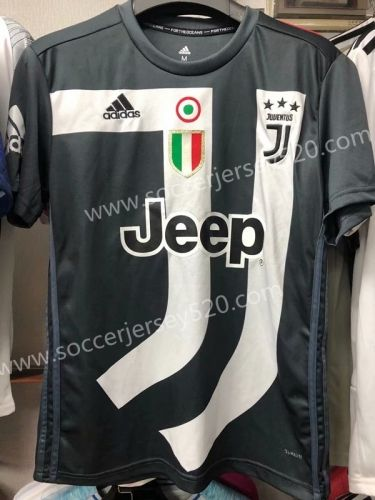 c9be78c80a7 2018-19 Juventus Commemorative Edition Black White Thailand Soccer Jersey  AAA-407