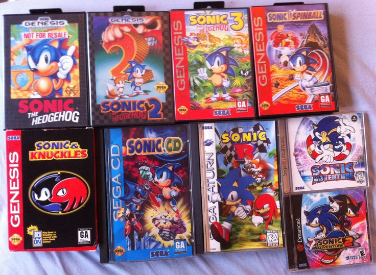 Collection of Sonic games for the Genesis, Sega CD, Saturn ...