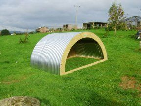 Love this simple goat shelter