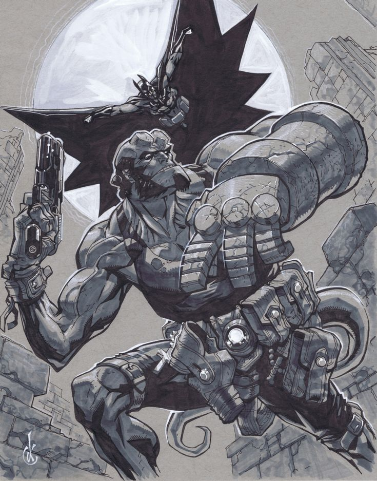Batman/Hellboy by Carlos d'Anda