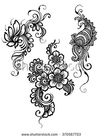 henna flower vectors - Google Search