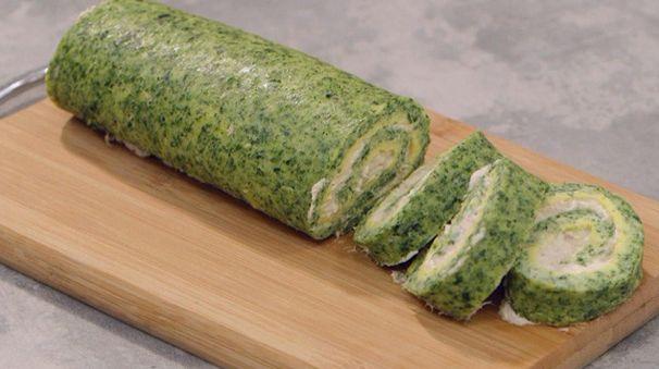 Dalla puntata di oggi de La cuoca bendata arriva una nuova ricetta di Benedetta Parodi: il rotolo di spinaci farcito con formaggio spalmabile