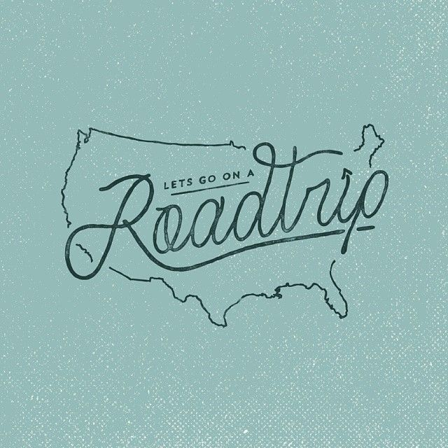 One day I just want to road trip through the U.S. or at least go through all the…