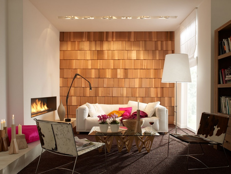 Warmer Hüttenzauber mit Schindeln aus Rot-Zeder - Wandgestaltung selber machen 5 - [SCHÖNER WOHNEN]