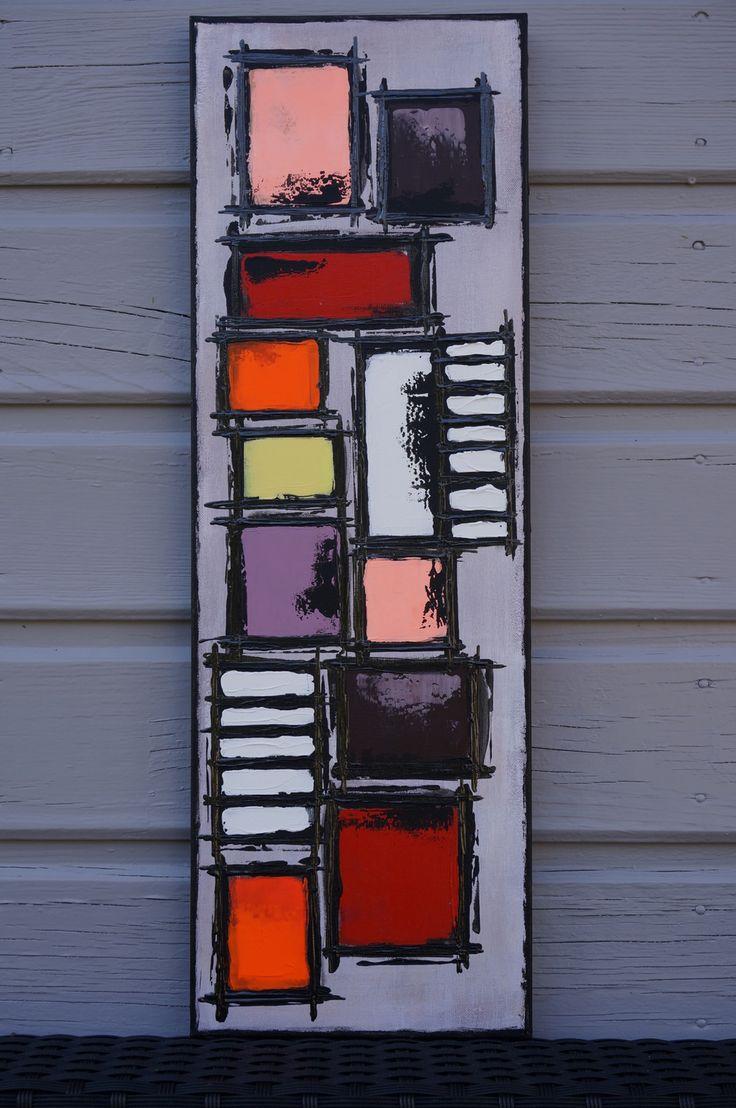 Les 25 meilleures id es de la cat gorie peinture abstraite for Peinture moderne geometrique