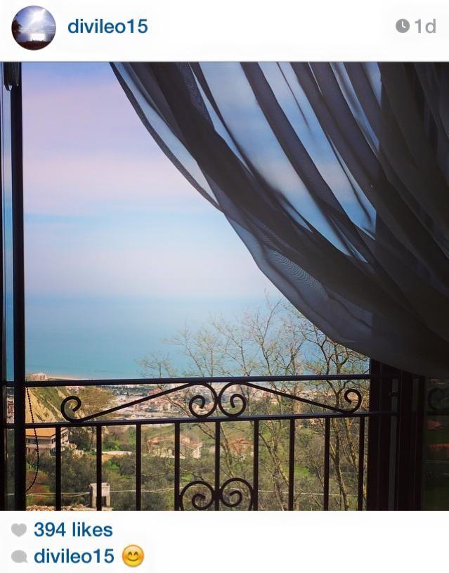 from the Ginoble kitchen in Montpagano overlooking Roseta degli Abruzzi and the Adriatic Sea!!  Beautiful!!