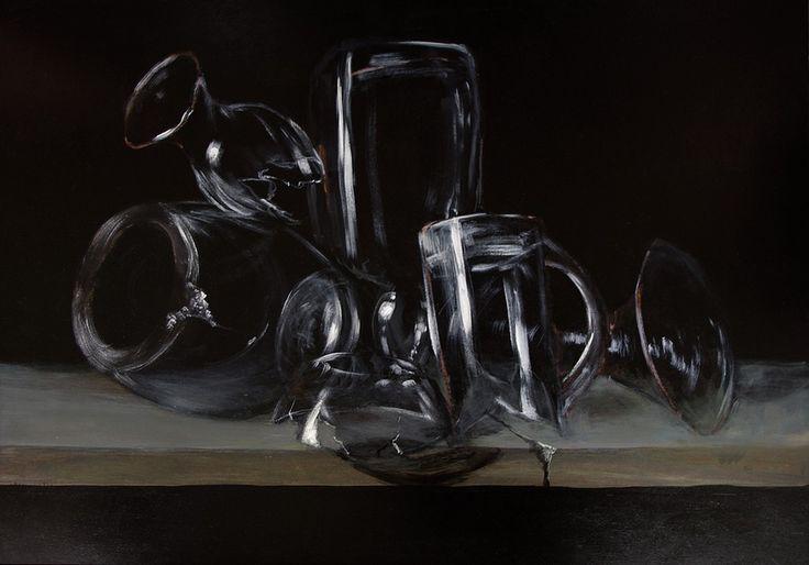 Malarstwo - Vanitas, akryl na płycie, malowany z pamięci / My painting - Vanitas, acrylic on board, painted from memory, imagination / 50x70 cm, 2013. http://pawgalmal.blogspot.com