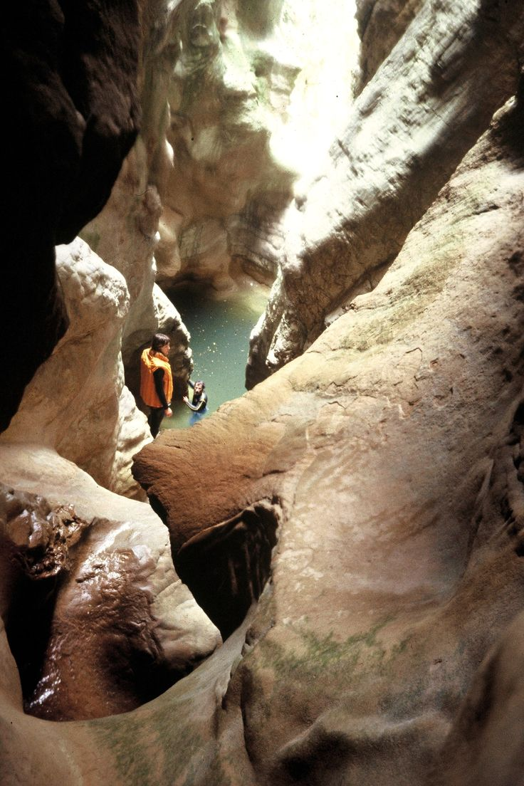 Canyon de Mascùn, Sierra de Guara, Spain, Photo by Jean-François Pernette, 1982.