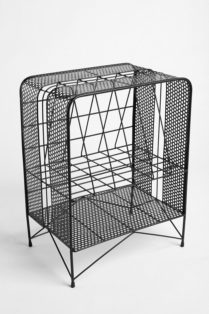 Perforated Record Rack  #UrbanOutfitters  Many uses besides records -- besides most folks don't have records any more.  PattyOnSite