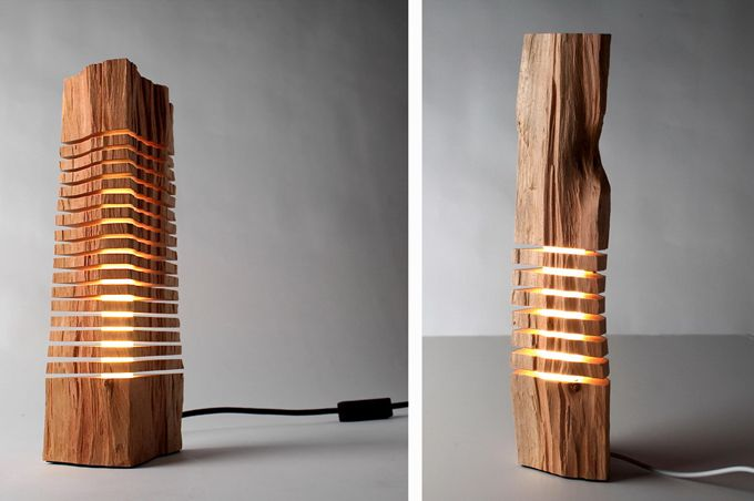 Split Grain: wooden lamps and sculptures › CuteDecision