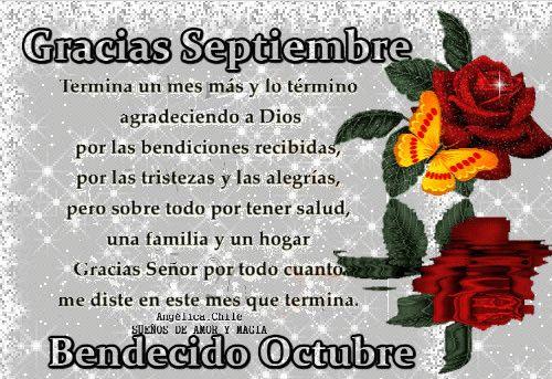 SUEÑOS DE AMOR Y MAGIA: Gracias Septiembre,bienvenido Octubre