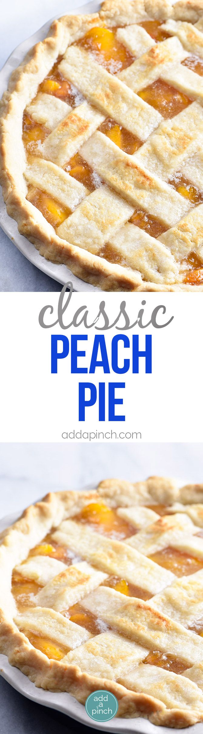 ***Classic Peach Pie Recipe ~ this  is a summer staple! Made with a lattice-topped double crust and filled with delicious peaches!