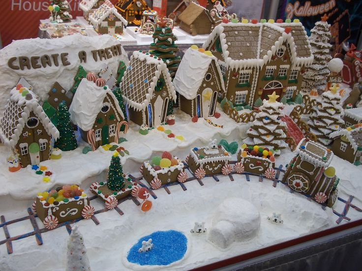 92 Best Gingerbread House Village Scenes Images On Pinterest