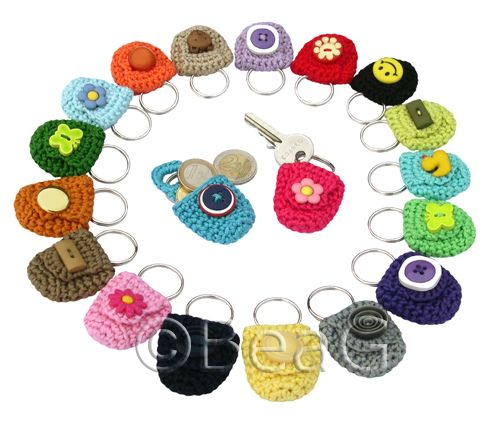 Keychain Coin Holders (Munthoudertjes) by Made by BeaG, via Flickr