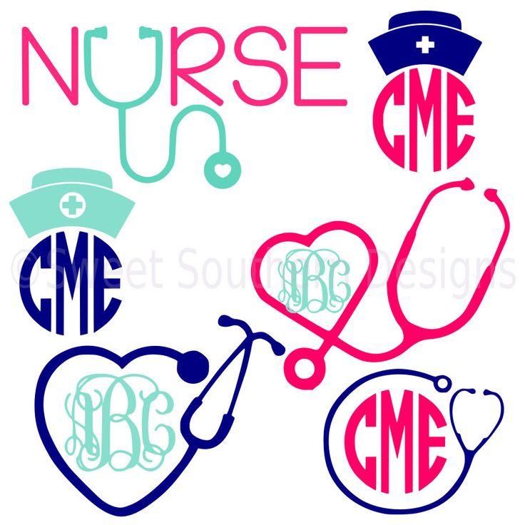Nurse stethoscope nurse hat monogram set SVG instant download design for cricut or silhouette by SSDesignsStudio on Etsy https://www.etsy.com/listing/399873435/nurse-stethoscope-nurse-hat-monogram-set