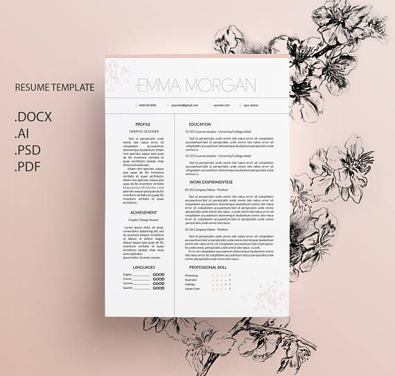 82 best CV template\/ Resume template\/ Letterhead images on - resume template docx