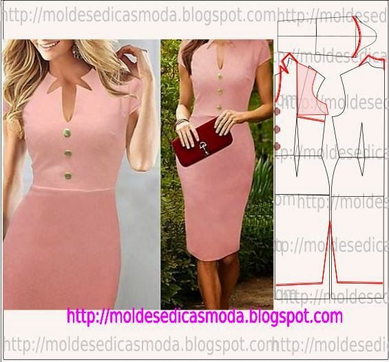 moules de mode pour Mesure: TRAITEMENT DRESS-158