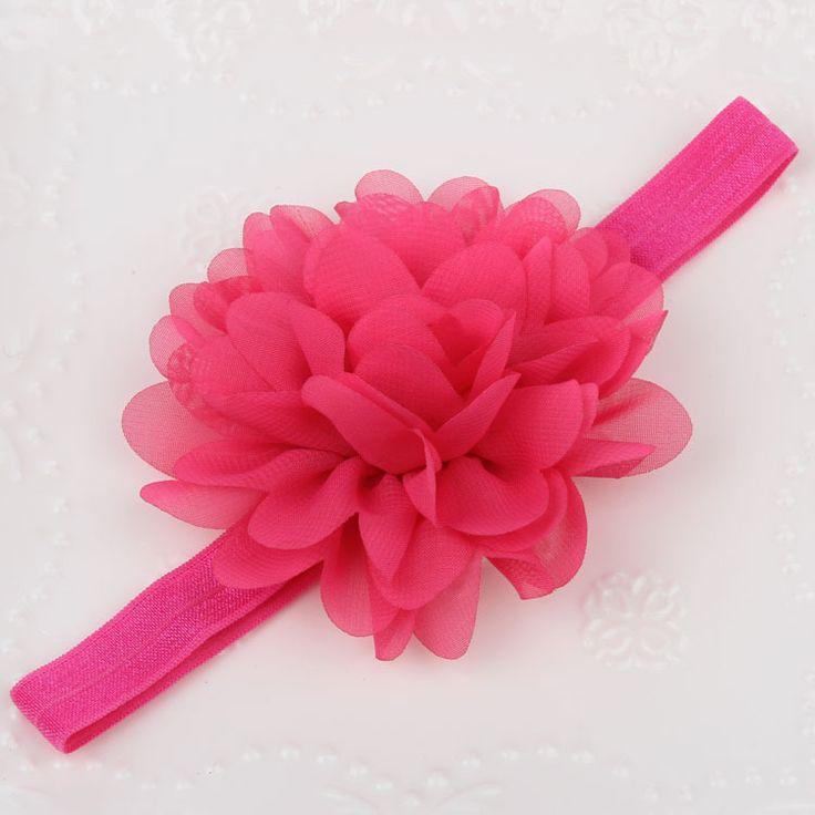 Baby Girl Hair Accessories Head Band Big Fabric Flower Headbands Children Acessorios Para Cabelo Shabby Faixa De Cabelo