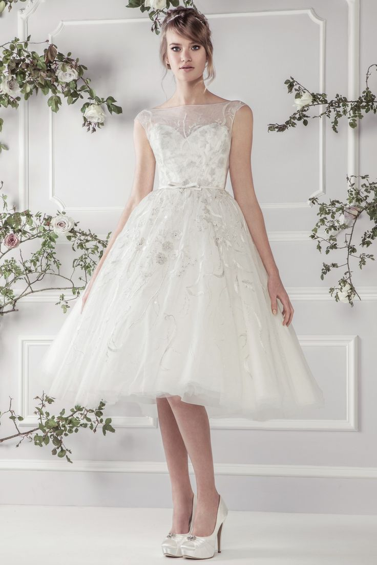 268 best tea length & short wedding dresses images on pinterest