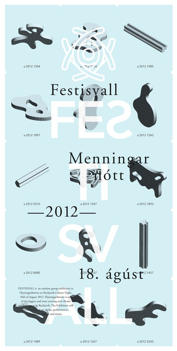 Festisvall 2012 by Geir Olafsson, via Behance