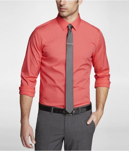 Express mens limited edition fitted 1mx shirt easy care for Men s wedding dress shirts