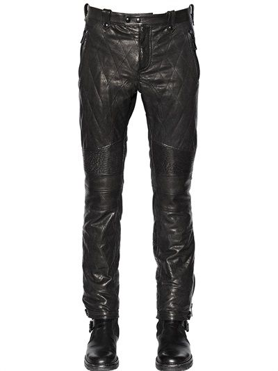 Belstaff quilted leather trousers