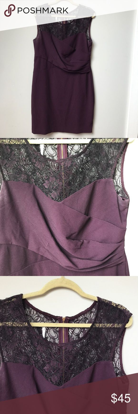 Maroon & lace dress Maroon & lace dress, zip up in the back Calvin Klein Dresses Mini