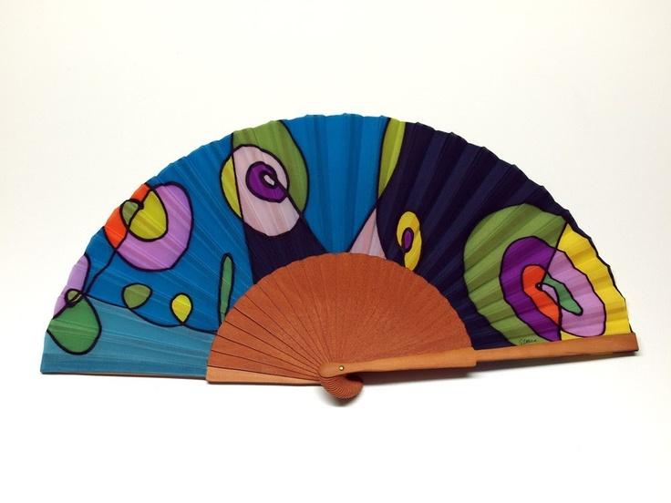 Handpainted Silk Hand fan