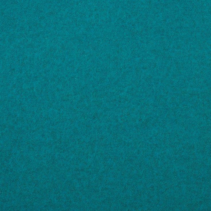 Plain Wool Poly Boiled Coat Fabric. Kingfisher Blue.