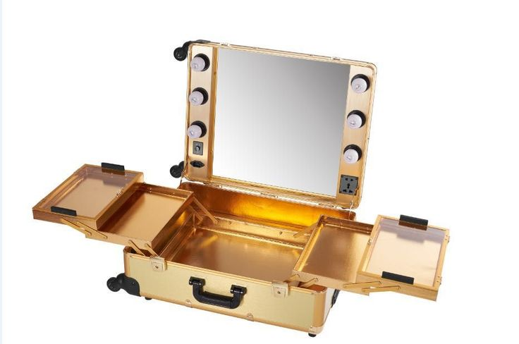 The lighting trolley with mirror is a professional makeup lighted station for makeup artist and stylist the detachable stand make everywhere possible