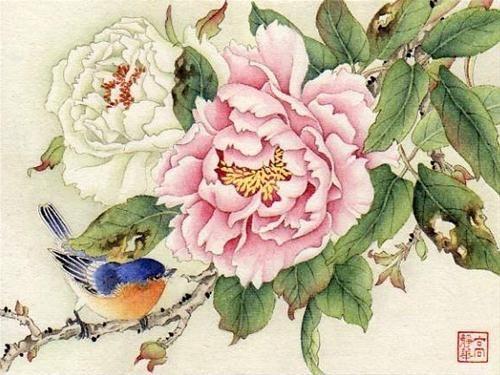 """Splendid Peony"" - Original Fine Art for Sale - © Jinghua Gao Dalia"